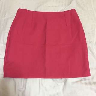 Cute Hot Pink Skirt From Korea