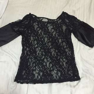 Black Lacy Top From bangkok