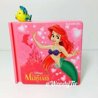 迪士尼 絕版 小美人魚 Ariel 小比目魚 賽巴斯汀 故事書糖果盒 擺飾 玩具