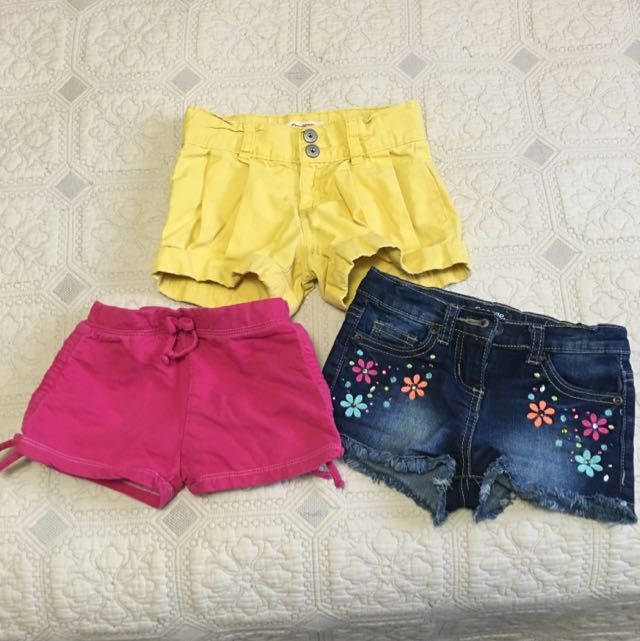 3 Toddler Girl's Shorts