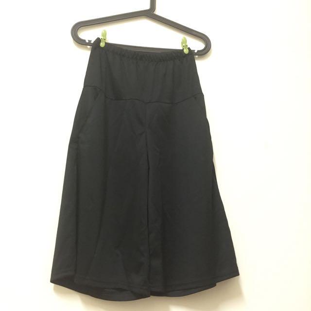寬褲/褲裙/黑