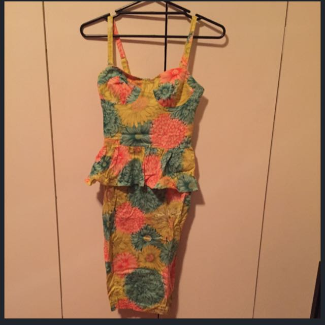 ASOS Midi Floral Print Dress