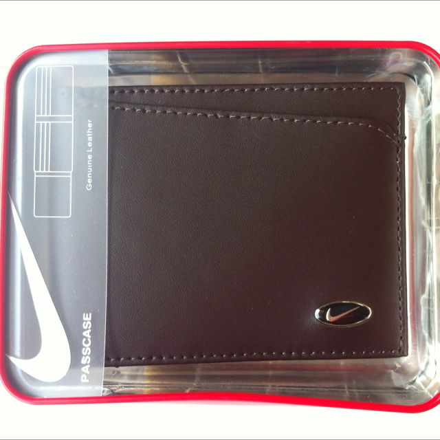 Authentic Nike Leather Wallet - Brown