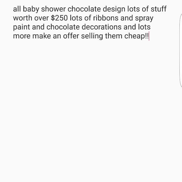 baby shower chocolate