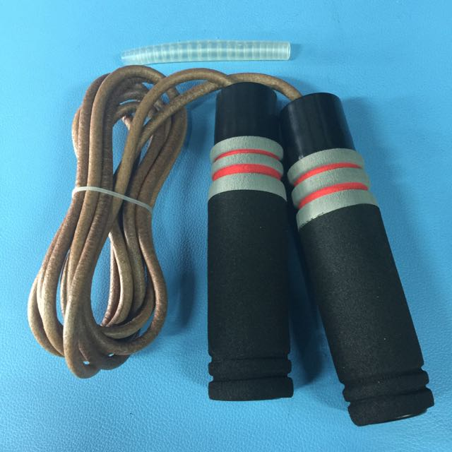 BNIP Fighter Fitness Weighted Leather Skipping Rope