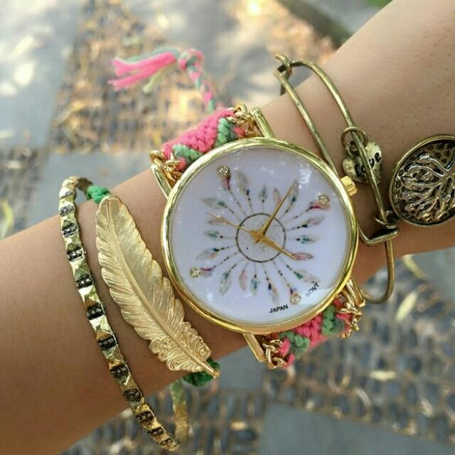 braided handmade watch
