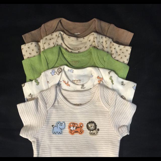 全新美國品牌Carter's 嬰兒/幼兒 包屁衣 五件組(另外贈送小襪子)
