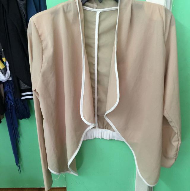 Chiffon beige blazer