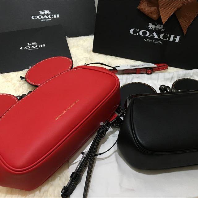 「現貨」Coach X Disney 耳朵款手拿包