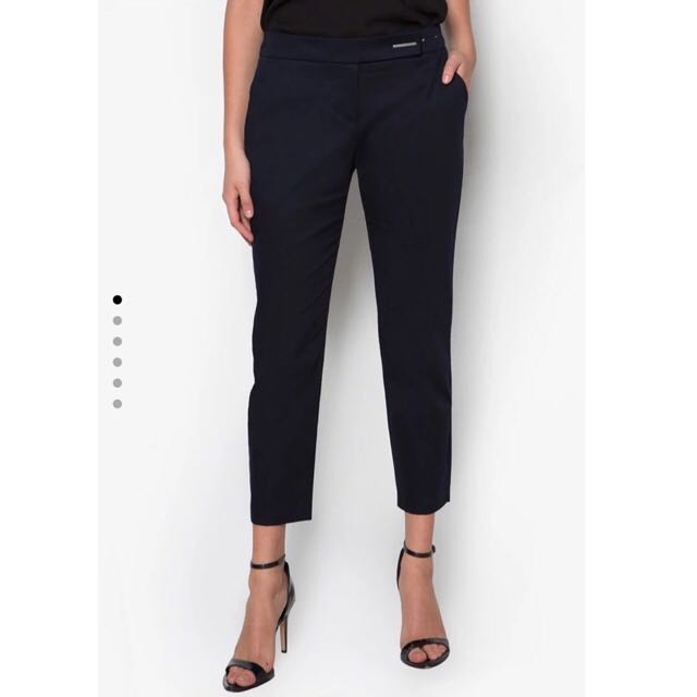 Dorothy Perkins - Navy Blue Crop Pants