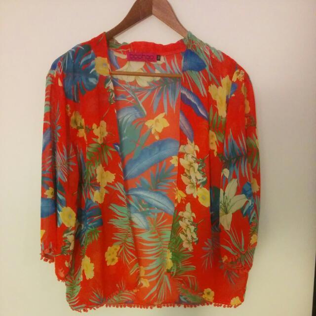 Floral Short Kimono