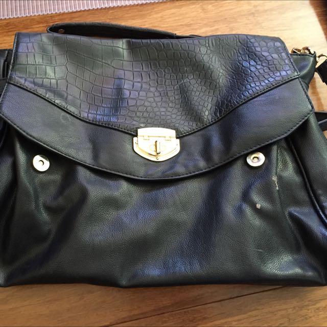 Forever 21 Satchel Handbag Black