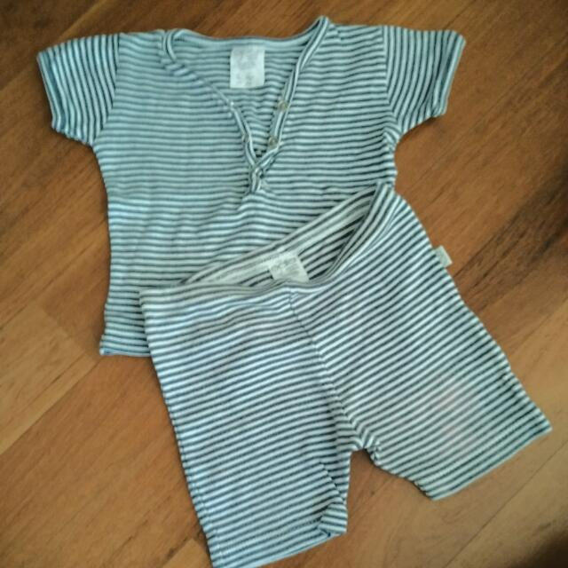 GAIA Organic Cotton Baby Set Top And Shorts