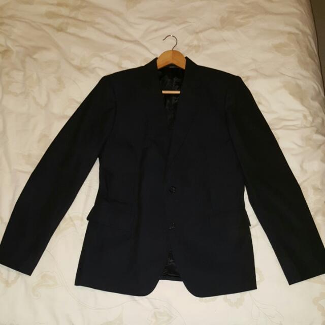 Giorgio Armani Suit Jacket Blazer Black Sz XL