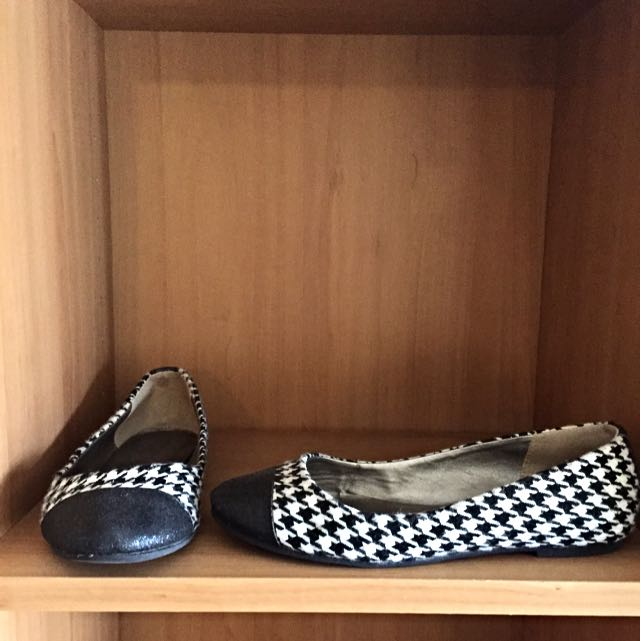Global Work Houndstooth Design Flats