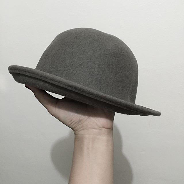 Grey Round Hat