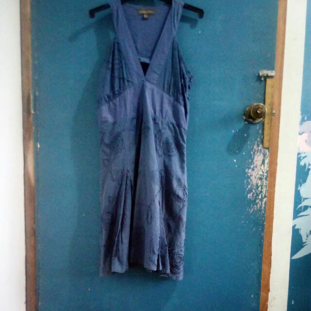 REPRICED Haltered Navy Blue Dress