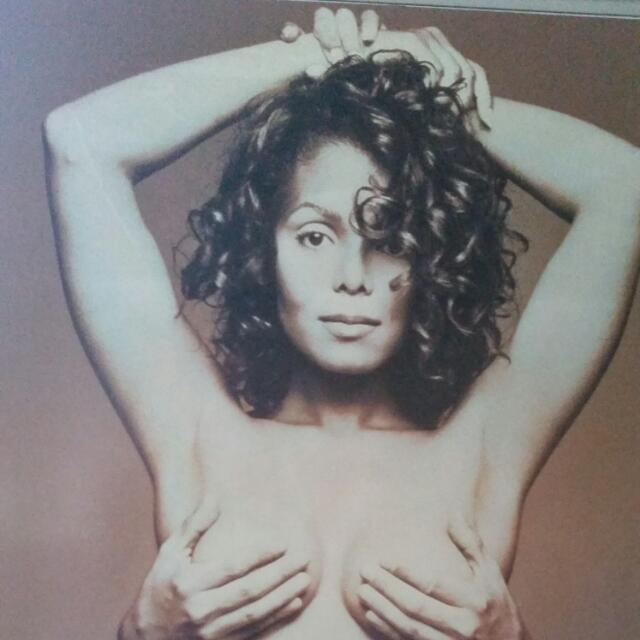 Janet Jackson Poster Size Picture With Board Backing FREE!
