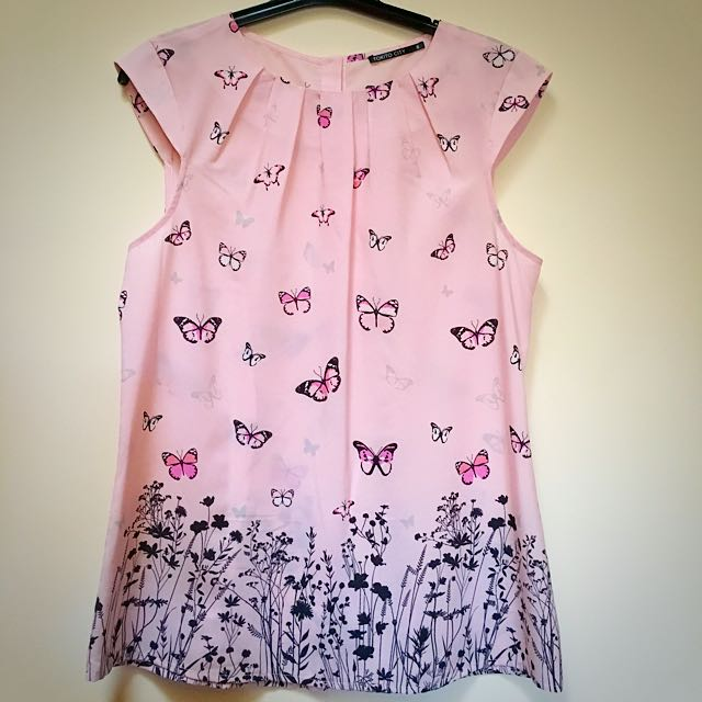 Ladies Butterfly Print Top