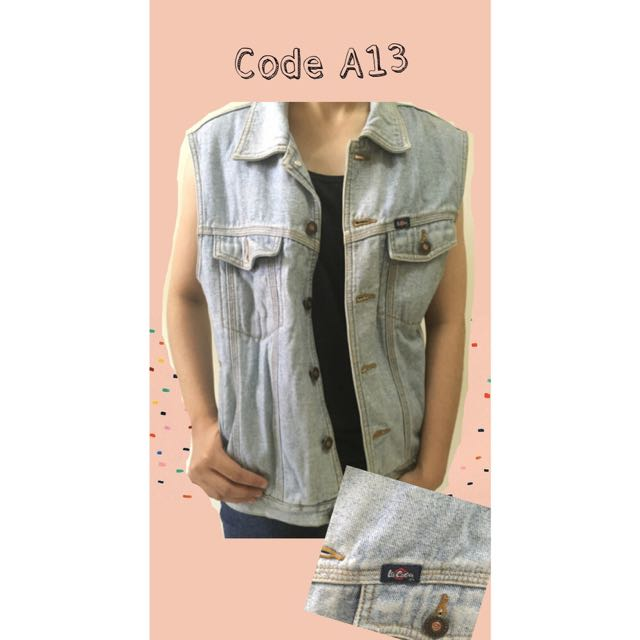 Lee Coper Rompi Denim