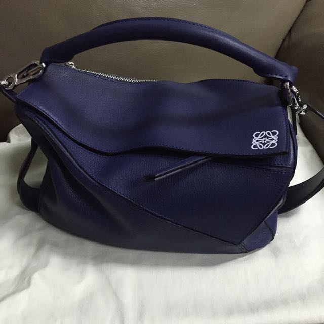 7ce622a8ecfc Loewe Puzzle Bag in Navy Blue