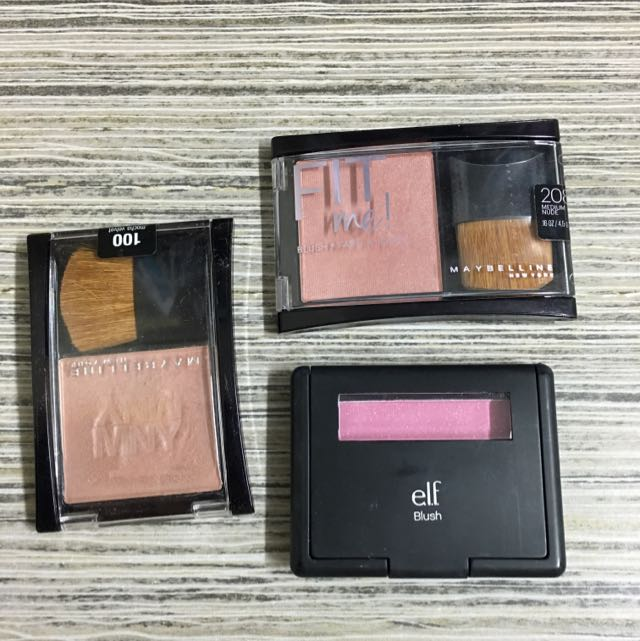 Maybelline And Elf Blushes