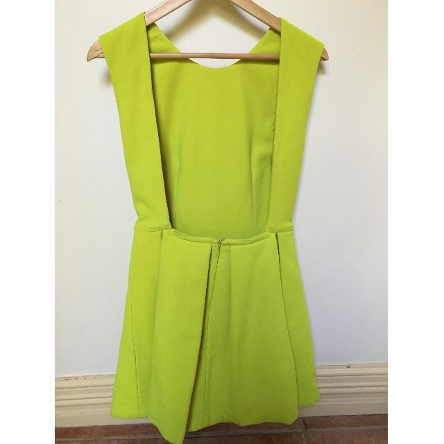 Mossman Chartreuse Party Dress