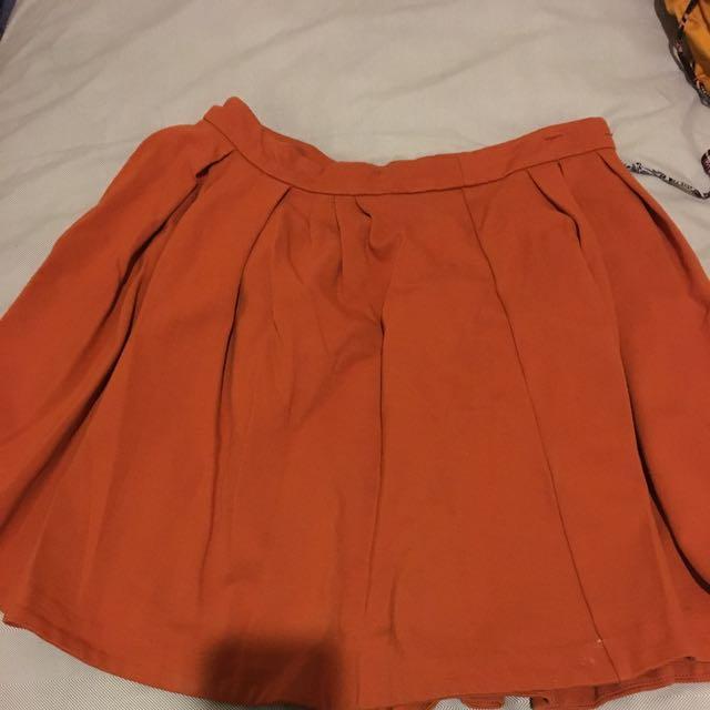 Orange Skater Skirt Portmans