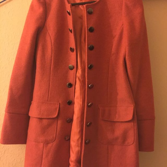 Orange Winter Long Jacket