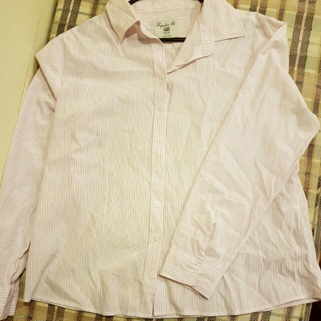 Pink And White Dress Shirt