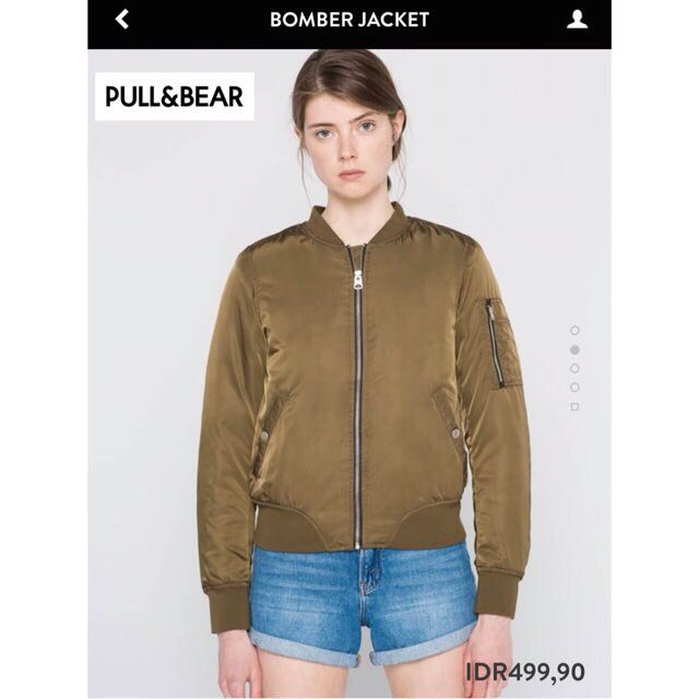 pull and bear bomber