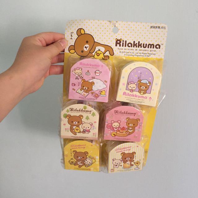 「懶熊拉拉熊Rilakkuma」蜂蜜 松鼠 睡衣 懶熊 貼紙 超商