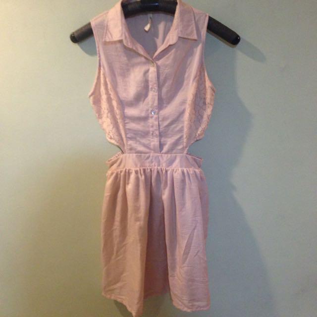 Shop Nita Blush Cutout Dress