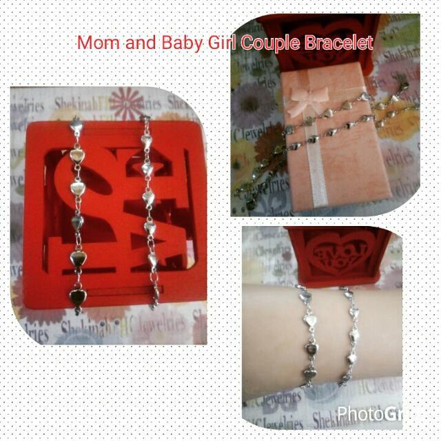 Stainless Couple Heart Bracelet