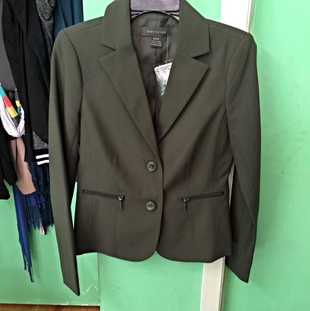 Suzy Shier Dark Green Blazer