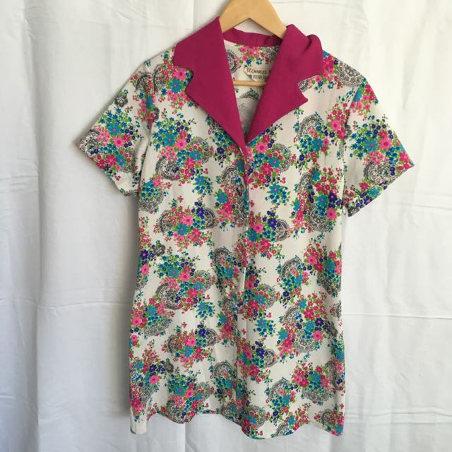 Vintage - Flowery Long Top