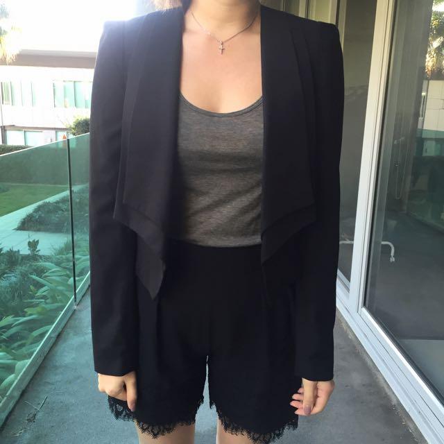Warehouse Black Short Blazer Size 10