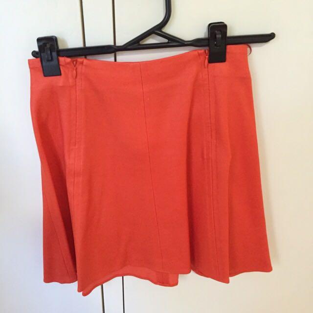 Witchery High Waisted Orange Skirt