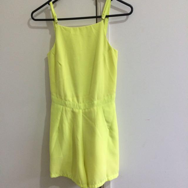 Yellow Summer Jumpsuit