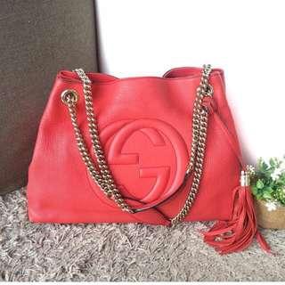 Gucci Soho Orange Red Bag