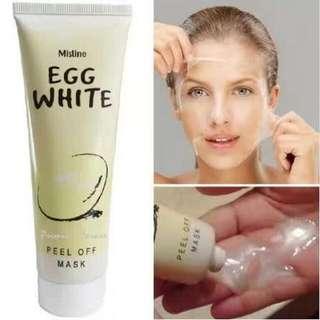 泰國公司貨>Mistine Egg雞蛋拔撕面膜85g