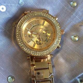 New Rose gold crystal dial watch