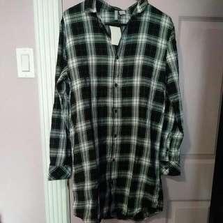 H&M Plaid T-shirt Dress