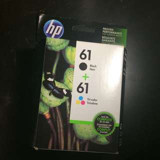 PRINTER INK//HP 61 BLACK AND COLOUR