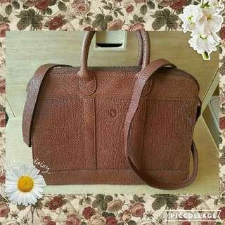 Vintage Style: Authentic Polo Ralph Lauren Leather Bag