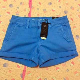 American Eagle Blue Midi Shorts