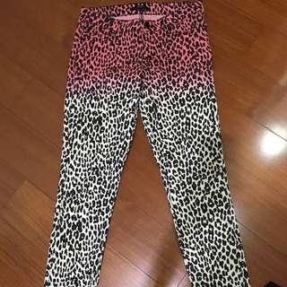 全新 購於美國 forever21 漸層粉色豹紋長褲