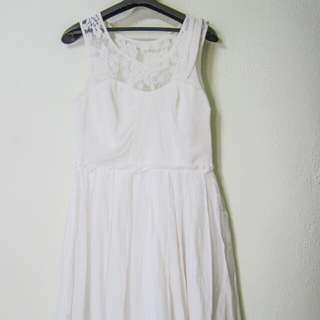 White Lace Dress (Good For Bridesmaids)