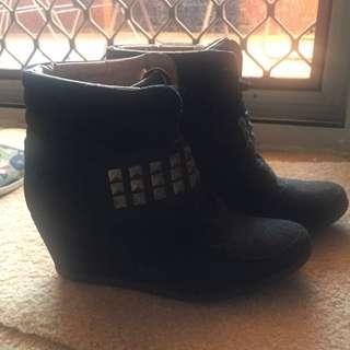 Hidden Wedge Boots