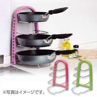 COLOR FRYING PAN RACK